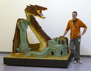 SDCC Lego The Hobbit Smaug sculpture