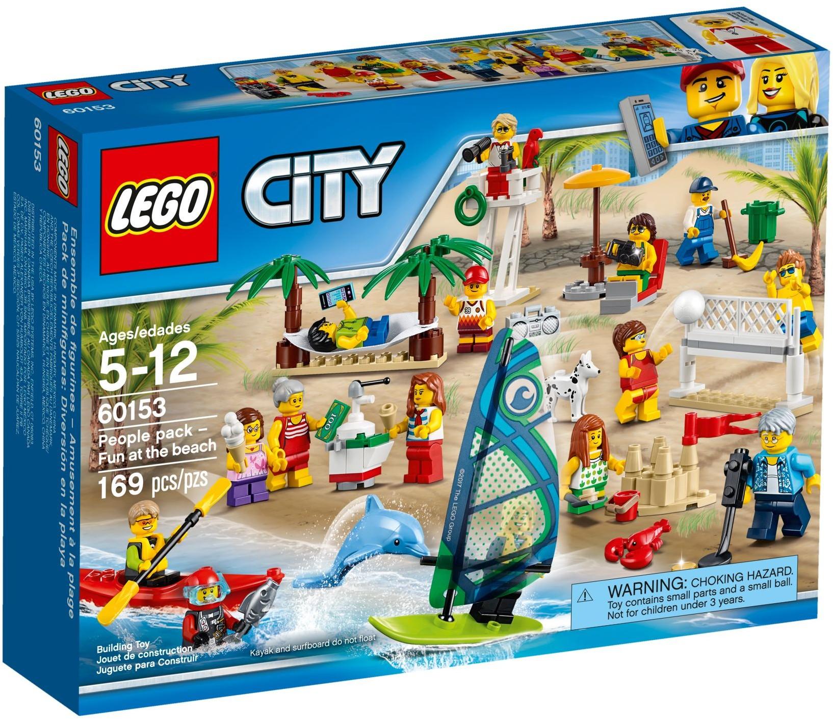 60153 Комплект минифигурок «Отдых на пляже»