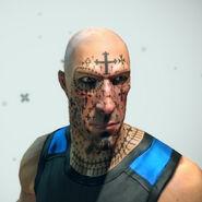 Crosstacean Face Tattoo