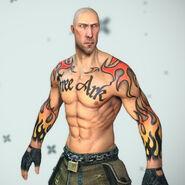 Biker Flames Tattoo