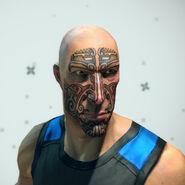 Mayan Face Tattoo