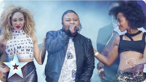 MC Boy singing 'I Need You Tonight' Semi-Final 3 Britain's Got Talent 2013
