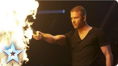 James More's firey magic act! Semi-Final 4 Britain's Got Talent 2013