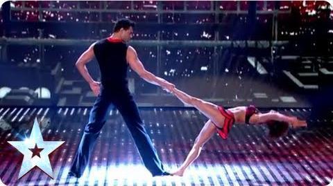 Martin and Marielle's highflying dance routine Semi-Final 2 Britain's Got Talent 2013