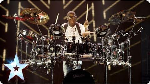 MckNasty bangin' the drums and DJ decks Semi-Final 2 Britain's Got Talent 2013