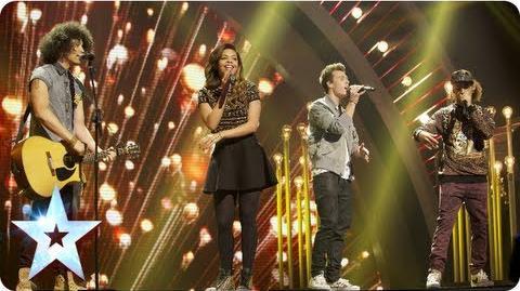 Luminites sing 'Hurt So Good' and sing it sooo good Final 2013 Britain's Got Talent 2013