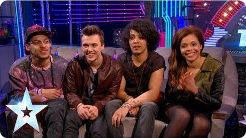 Stephen chats with Luminites and Pre-Skool Semi-Final 3 Britain's Got More Talent 2013