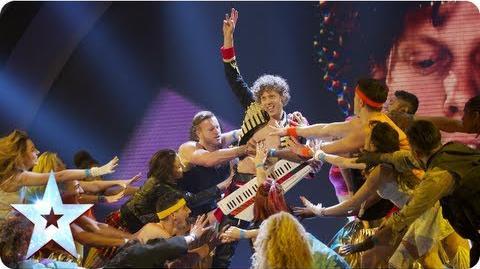 Maarty Broekman is a born 80's entertainer Semi-Final 5 Britain's Got Talent 2013