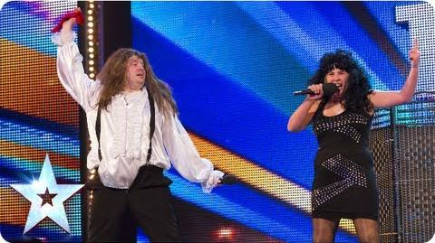 Meat Diva impressionists and singers Week 7 Auditions Britain's Got Talent 2013