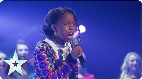 Asanda singing Beyonce's 'If I Were A Boy' Final 2013 Britain's Got Talent 2013