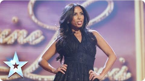 Glamour girl! Francine Lewis is Katie Price and more Final 2013 Britain's Got Talent 2013