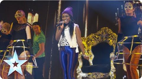 Modupe singing 'Beauty and a Beat' Semi-Final 2 Britain's Got Talent 2013
