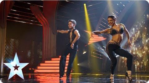 AJ & Chloe's latin dancing with some fancy footwork Semi-Final 4 Britain's Got Talent 2013