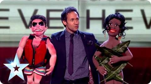 Steve Hewlett's ventriloquist act with some special guests Final 2013 Britain's Got Talent 2013