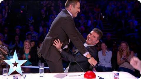David walks out! Lured back by his Simon Semi-Final 2 Britain's Got More Talent 2013