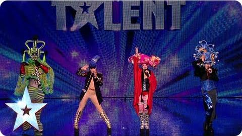 Clubtown Freaks get their groove on! Week 4 Auditions Britain's Got Talent 2013