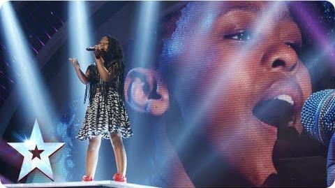 Asanda the mini diva singing Beyonce's 'Halo' Semi-Final 4 Britain's Got Talent 2013