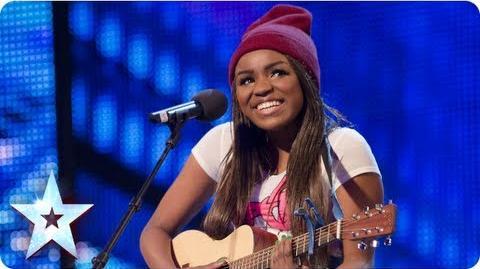 Modupé singing 'Boyfriend' Week 7 Auditions Britain's Got Talent 2013