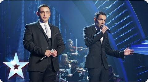 Richard and Adam singing 'The Impossible Dream' Final 2013 Britain's Got Talent 2013