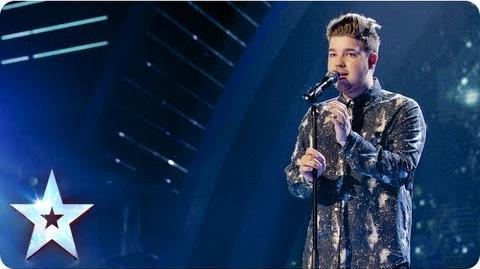 Alex Keirl singing 'First Time Ever I Saw Your Face' Semi-Final 4 Britain's Got Talent 2013