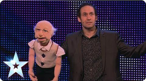 Ventriloquist Steve Hewlett is no dummy Week 6 Auditions Britain's Got Talent 2013