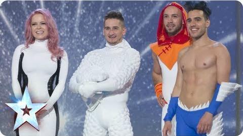 Freelusion the interactive dance superheroes Semi-Final 3 Britain's Got Talent 2013