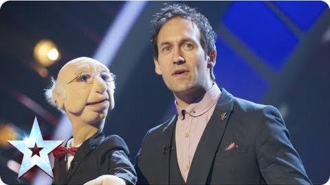 Steve Hewlett is the puppet master Semi-Final 5 Britain's Got Talent 2013