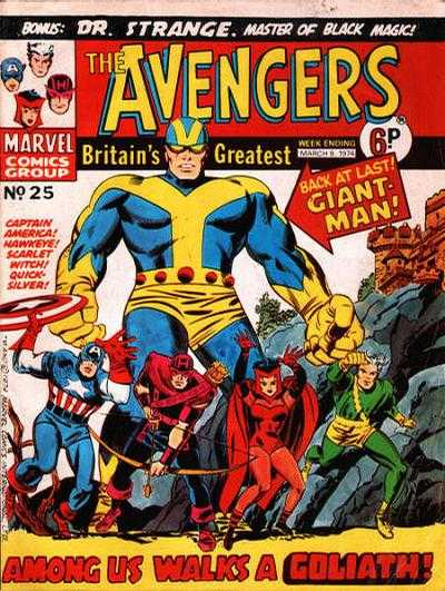 Avengers (Marvel UK) Vol 1 25