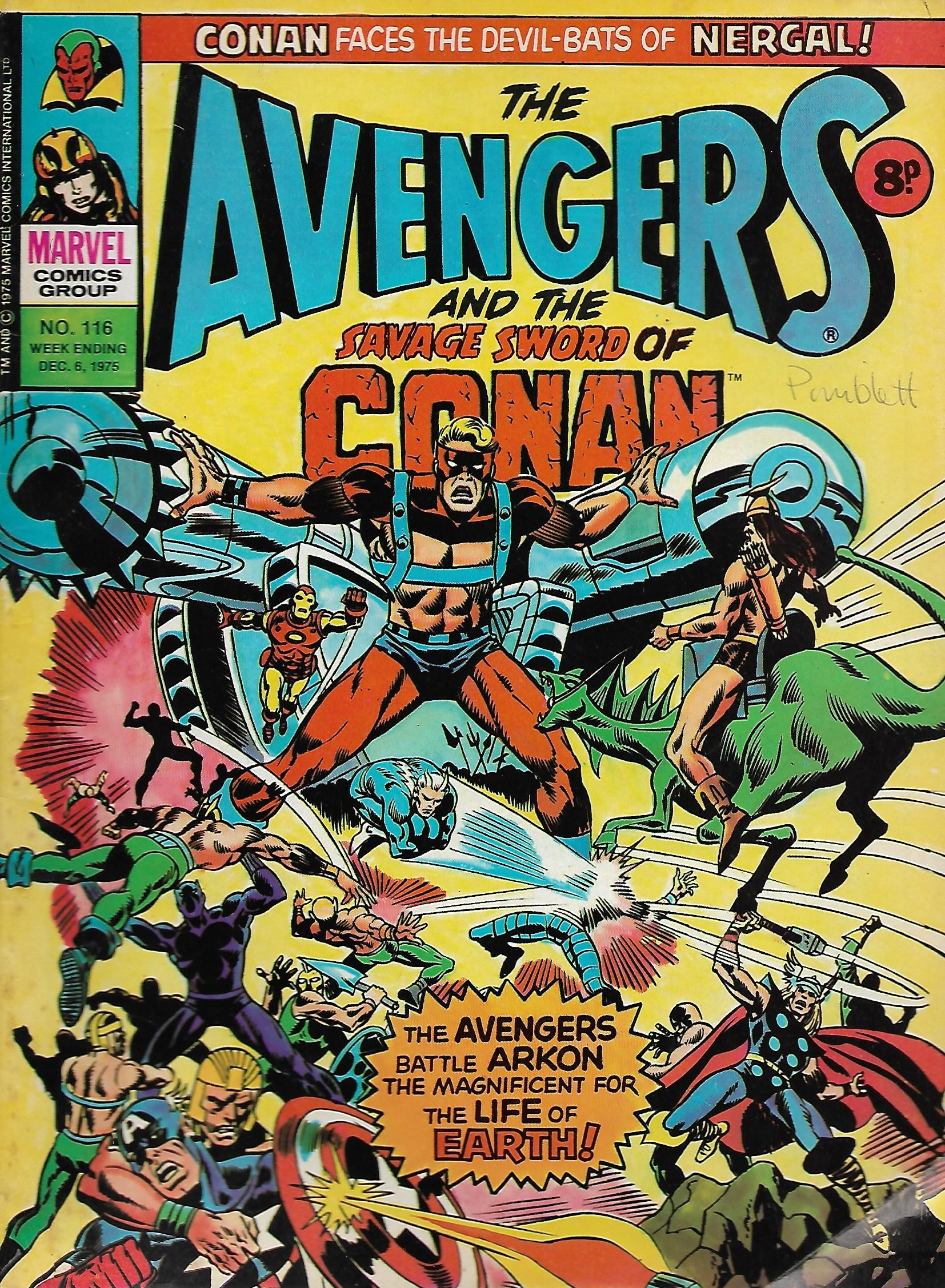 Avengers (Marvel UK) Vol 1 116