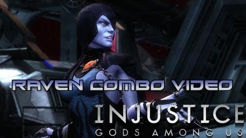 Injustice Gods Among Us - Raven Combo Video