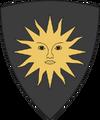 Escudo de Nilfgaard. De sable, un sol de oro.
