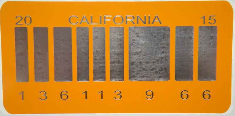 Barcode license plate