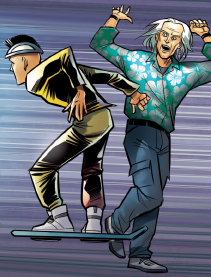 Hoverboarding teen