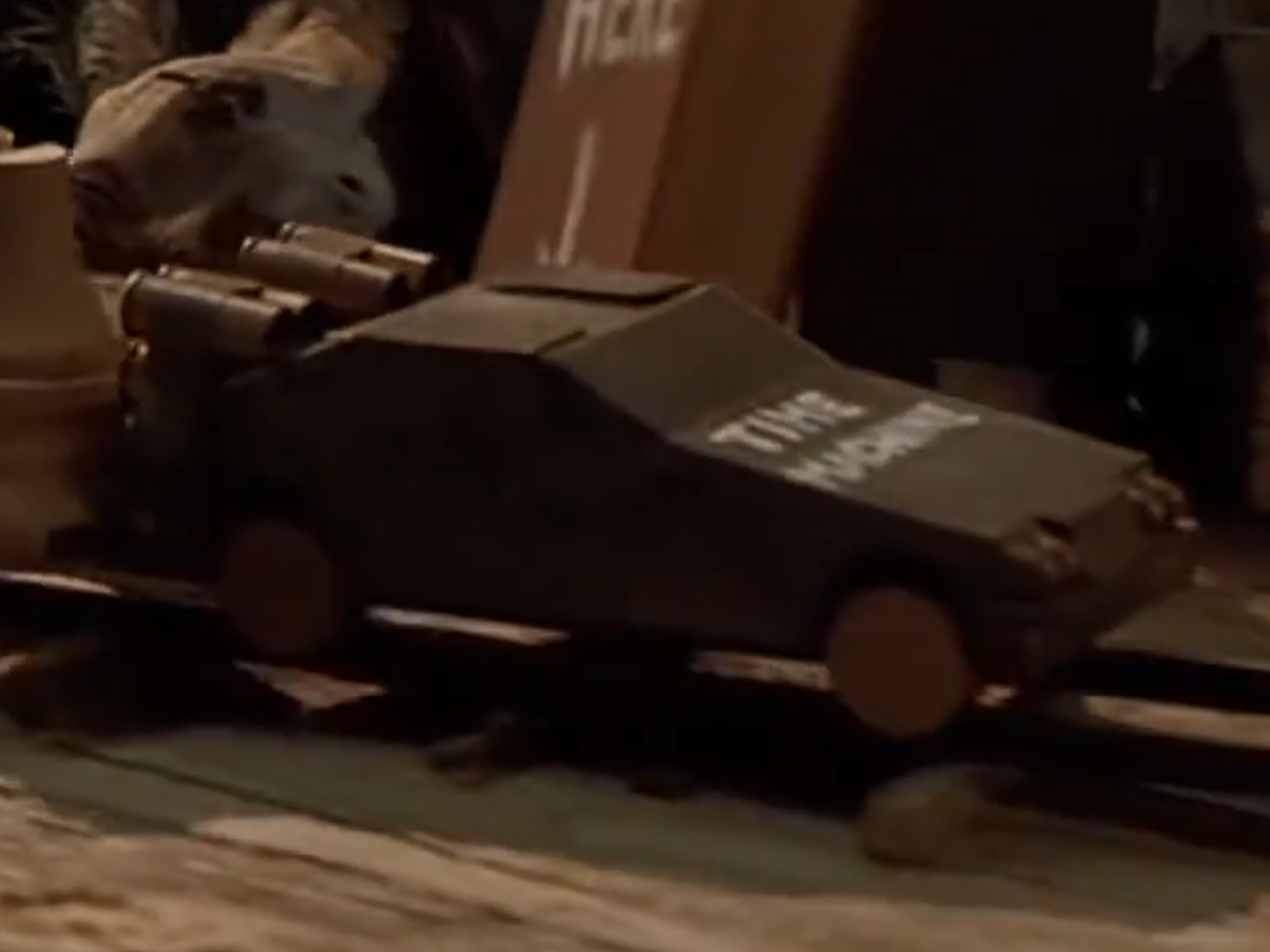 Miniature DeLorean model
