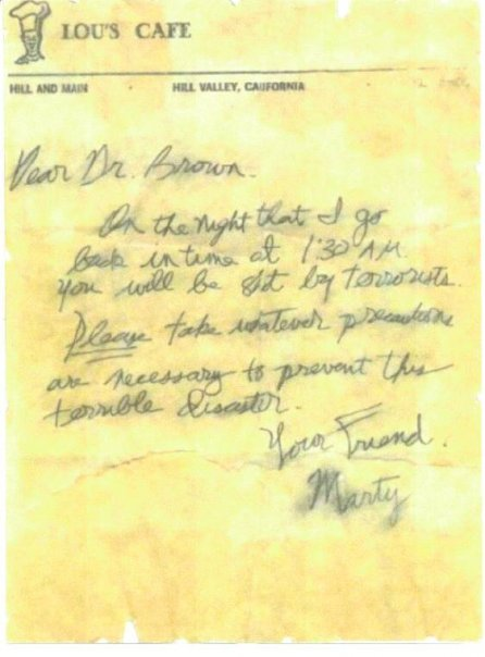Marty's letter