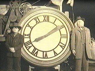 Doc and Marty's clock photograph