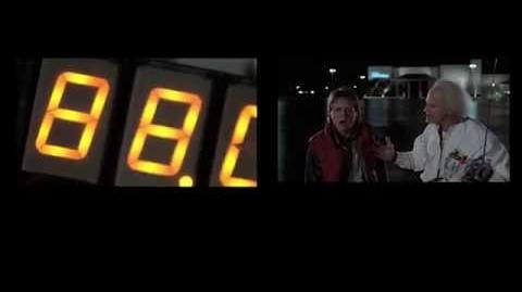 Back to the Future Time Travel Side By Sides