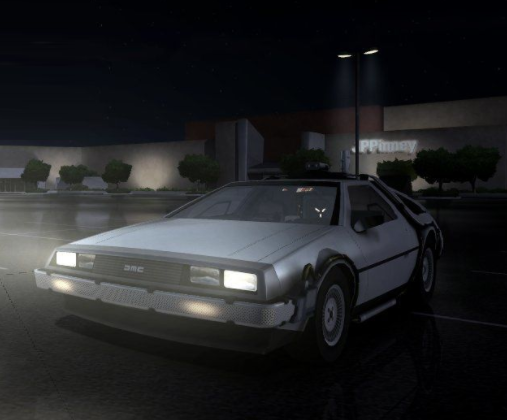 Temporal duplicate DeLorean