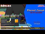 -😱OMG😱- I Hatched SHINY Secret Eternal Carrot In Super Event - Bubble Gum Simulator - Hatch On Cam