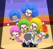 Molly rolls out the clowns.jpg
