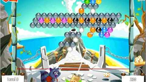 Facebook - Bubble Island - Stage 9 Level 9 - Walkthrough
