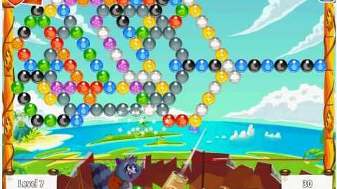 Facebook - Bubble Island - Stage 10 Level 7 - Walkthrough