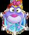 BWS3 FogFrog on Blue bubble under spider web