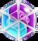 BWS3 Duo Blue-Purple bubble under spider web