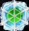 BWS3 Ice green bubble under spider web