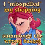 BWS3 I mispelled my shopping
