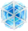 BWS3 Ice blue bubble under spider web