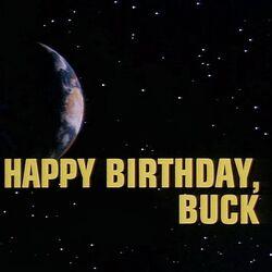 Happy Birthday, Buck