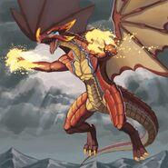 Impasto Flame Dragon