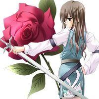 Anime girl infront of a rose by lightningstar022-d4oqgww.jpg